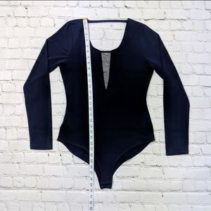 BCBGeneration Tops - BCBGeneration Mesh Panel Long Sleeve Bodysuit